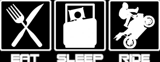 Eat sleep ride - bluza motocyklowa