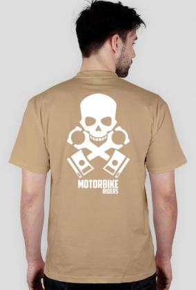 Motorbike riders skull - męska koszulka motocyklowa tył