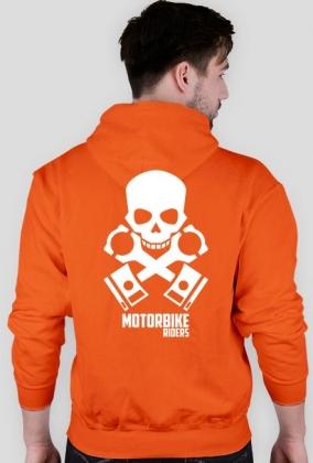 Motorbike riders skull - bluza motocyklowa tył