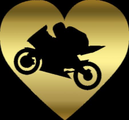 Motoserce gold - damska koszulka motocyklowa