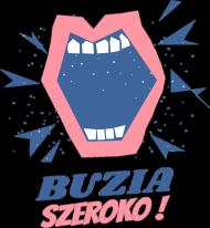 BUZIA SZEROKO - koszulka damska, biała lub czarna, stomatologia