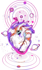 COSMIC LOVE- koszulka damska czarna