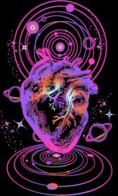COSMIC LOVE- bluza damska czarna