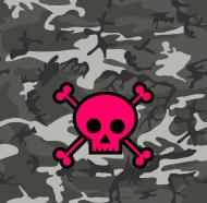 Maska ochronna Pink Skull