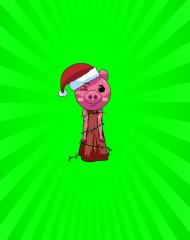 Maseczka Ochronna - Świąteczna Piggy