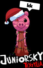 Koszulka Damska - Świąteczna Piggy