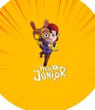 Maseczka Lniana - Hello Junior