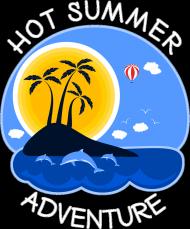 Bluza męska czarno-biała na wakacje i lato - Hot Summer Adventure