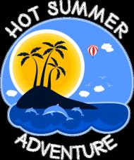 Kubek czarny na lato i wakacje - Hot Summer Adventure