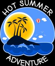 Koszulka męska czerwona na wakacje i lato - Hot Summer Adventure