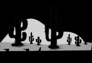 Koszulka męska szara - Kaktus