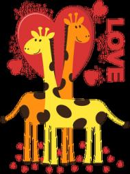Zakochane Żyrafy - Biały kubek