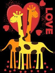 Zakochane Żyrafy - Czarna koszulka męska