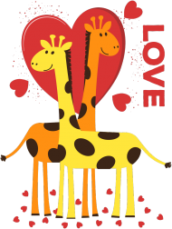 Zakochane Żyrafy - Koszulka damska