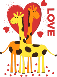 Zakochane Żyrafy - Turkusowa koszulka damska