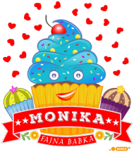 Monika Fajna Babka - Kubek kolor z imieniem