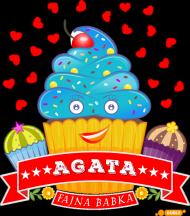 Agata Fajna Babka - Torba na zakupy czarna z imieniem