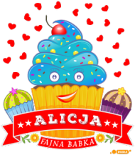 Alicja Fajna Babka - Kubek magiczny z imieniem