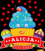 Alicja Fajna Babka - Torba na zakupy czarna z imieniem