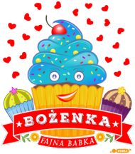 Bożenka Fajna Babka - Kubek kolor z imieniem