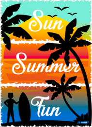 Sun Summer Fun - Biały kubek