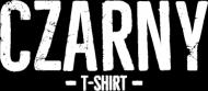 Koszulka damska czarna bez rękawów z napisem Czarny T-shirt