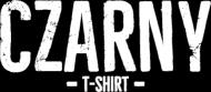 Koszulka męska czarna bezrękawnik z napisem Czarny T-shirt