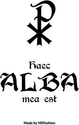 Torba na albę łacina jasne kolory