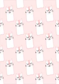 Komin wielofunkcyjny różowy Koty kotki