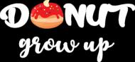 Koszulka chłopięca Donut Grow Up - czarna