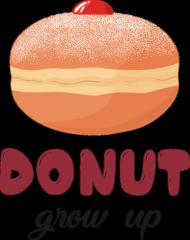 Koszulka dziewczęca Donut grow up - biała