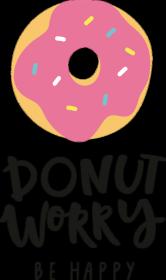 Koszulka dziewczęca - Donut worry be happy - kolor biały