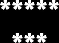 Koszulka damska 8 gwiazdek czarna