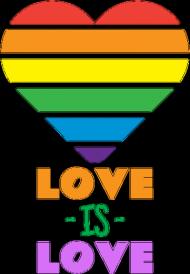 Kubek Love is Love Heart 2 czarny