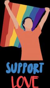Koszulka męska Support Love Flag
