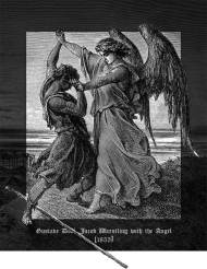 Jacob Wrestling with the Angel :: torba