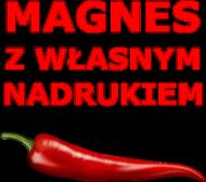 Magnes z własnym nadrukiem