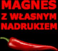 Magnes z własnym nadrukiem serce