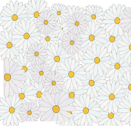 Maseczka Kolorowa Stokrotki kwiaty
