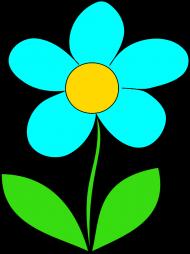 Maseczka Kolorowa Biała Kwiat Niebieski