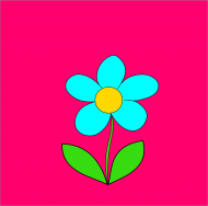 Maseczka Kolorowa róż niebieski kwiat