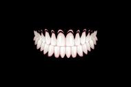 MASECZKA BAWEŁNIANA - CZARNA W Zęby