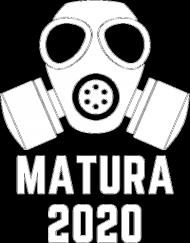 Koszulka damska V-neck MATURA 2020 czarna