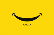Smile - lniana maseczka