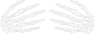 KOSZULKA DAMSKA FLUORESCENCYJNA HALLOWEEN SKELETON HANDS