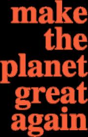 Make the planet grat again - koszulka damska, kolor biały