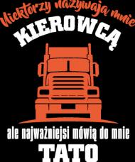 Koszulka Męska - Tato Kierowca (Prezent na Dzień Taty)