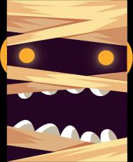 Sympatycznie straszna mumia w komiksowym stylu - Halloween - damska koszulka