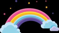 Rainbow Kids koszulka z tęczą