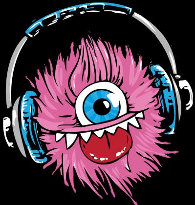 Koszulka Damska Słuchawkowy Potwór